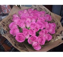 Букет из 51 розовой розы 35 см.