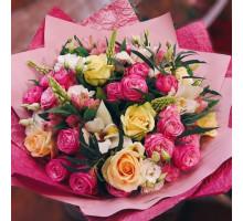 Букет Мир в розовых тонах