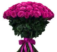 Букет из 101 розовой высокой розы