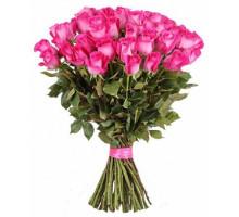 Букет из 51 высокой розовой розы