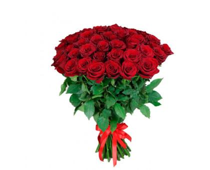 Букет из 51 красной розы средней длины