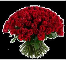 Букет из 101 красной розы высокая