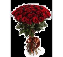 Букет из 21 высокой красной розы