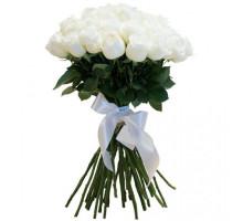 Букет из 21 высокой белой розы
