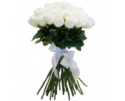 Букет из 25 высоких белых роз