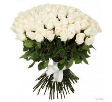 Букет из 101 белой высокой розы