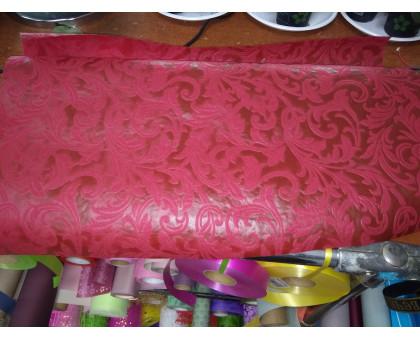Фетр ламинированный красный с узорами